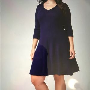 Final❗️ Bryant 3/4 Length Fit/Flare Sweater Dress